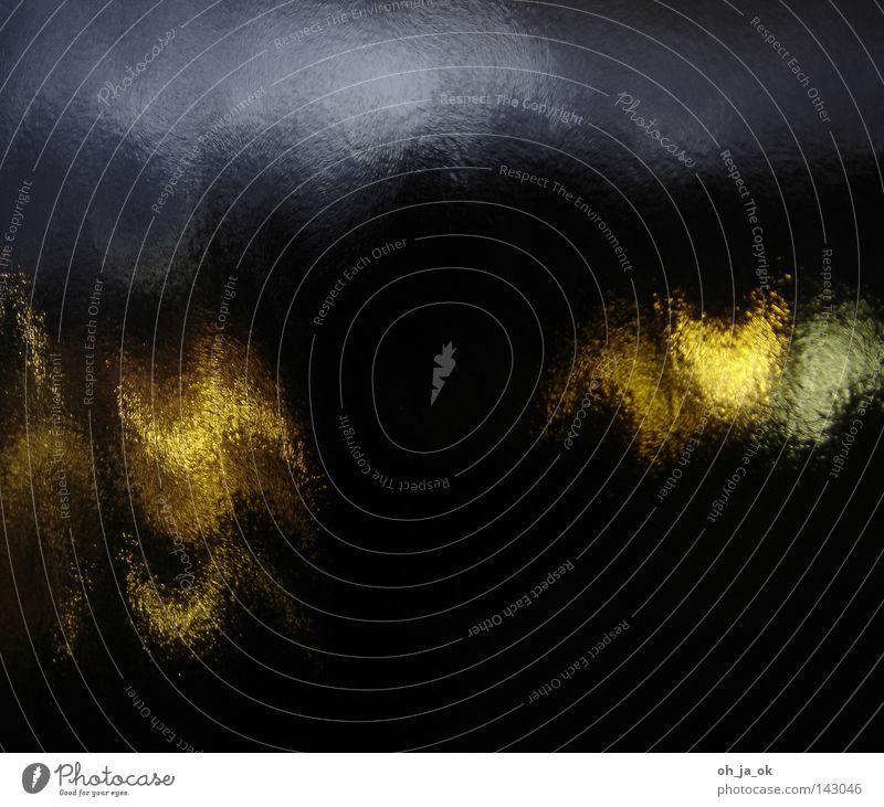 gespensterfenster Fenster Nacht Licht Farbenspiel grün blau gelb schwarz Reflexion & Spiegelung Muster Moiré-Effekt Geister u. Gespenster unheimlich Tanzen