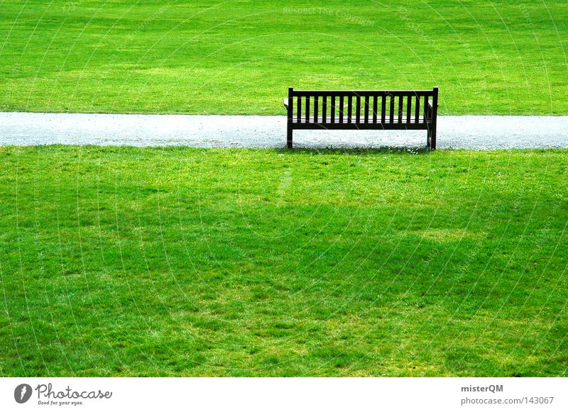 Rentnerparadies. grün Einsamkeit Farbe ruhig Erholung Wiese Holz Wege & Pfade Gras Garten Luft Park Raum Zufriedenheit München Ausflug
