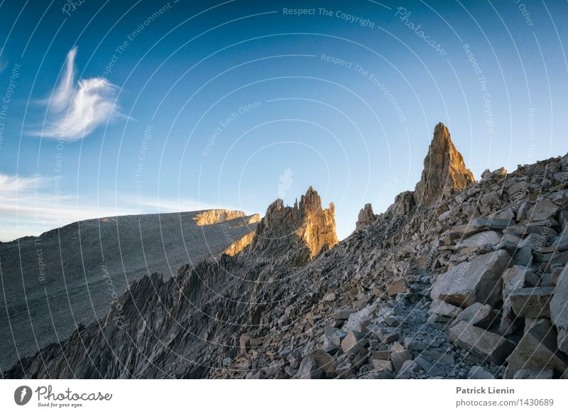 Mt. Muir Himmel Natur Ferien & Urlaub & Reisen Sommer Landschaft Wolken Ferne Berge u. Gebirge Umwelt Freiheit Felsen Wetter Zufriedenheit Tourismus wandern