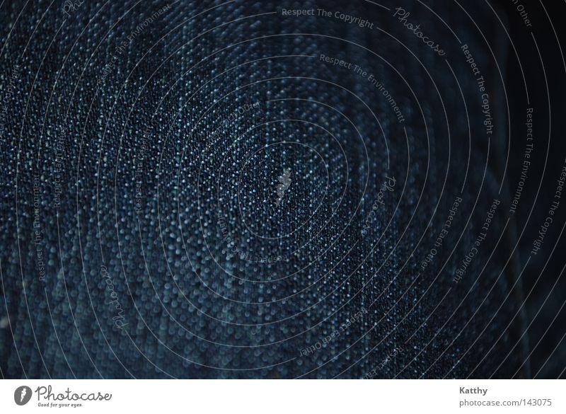 Jeansstoff blau Bekleidung Jeanshose Stoff Material Textilien Baumwolle