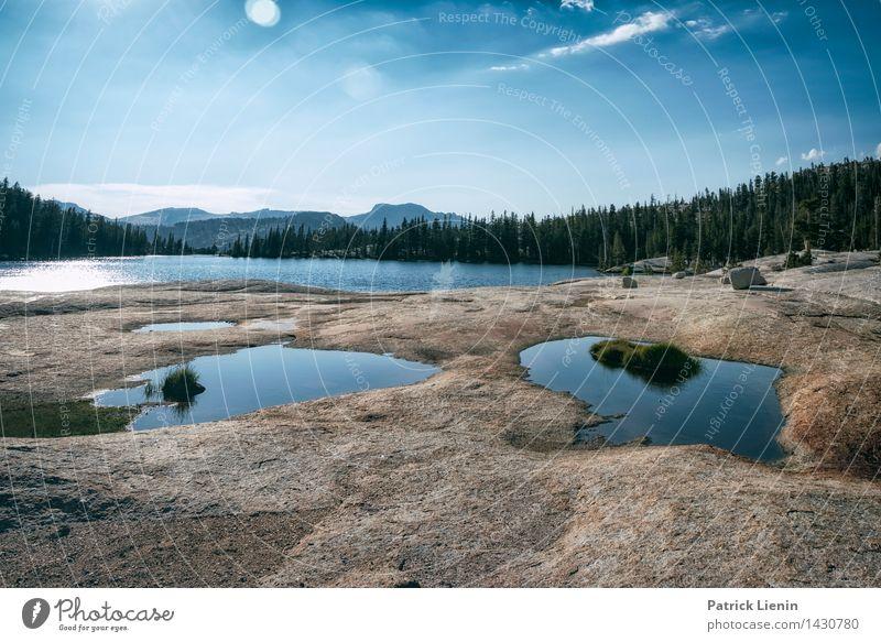 Cathedral Lake Himmel Natur Ferien & Urlaub & Reisen Sommer Wasser Sonne Landschaft Erholung Wolken ruhig Ferne Umwelt Freiheit See Tourismus Wetter