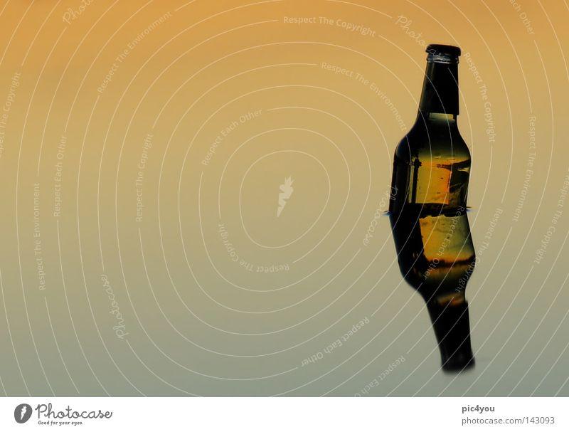 Sommerstrand Wasser Freude Erholung See Schweiz Bier Flasche Alkohol Kreativität