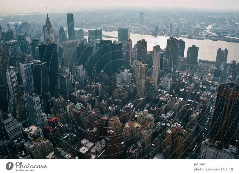 atemberaubend New York City USA Amerika Amerikaner Ostküste Stadt Mitte Hochhaus Aussicht Panorama (Aussicht) Beton Stein Leben Gesellschaft (Soziologie) eng
