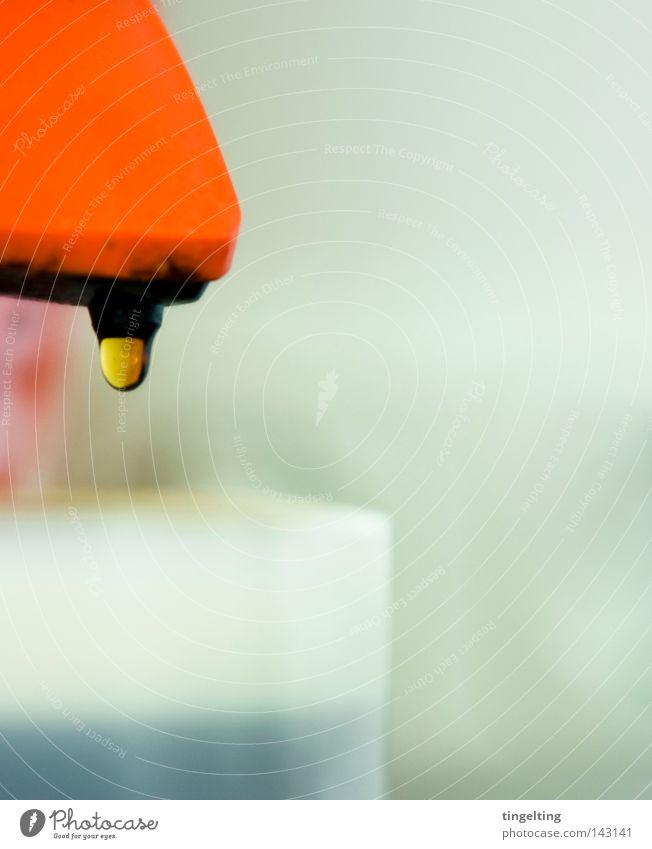 kaffeepause weiß rot braun orange Glas Kaffee Tropfen Schaum Rest Tasse Kaffeetasse Getränk Kaffeetrinken Kaffeemaschine