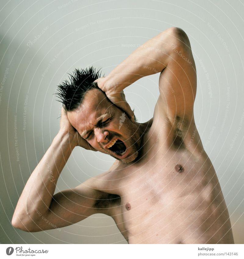john, i'm only dancing Mann Punk Haare & Frisuren Irokesen-Schnitt Mensch Show Porträt weiß entstehen Zirkus Entsetzen laut ruhig Schall Gehörsinn hören stumm