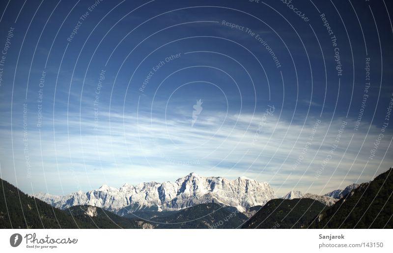 no amoi dö Zugspitz, göi Himmel Natur Ferien & Urlaub & Reisen Freude Wolken Einsamkeit Erholung Herbst Berge u. Gebirge Freiheit Stein Felsen Freizeit & Hobby