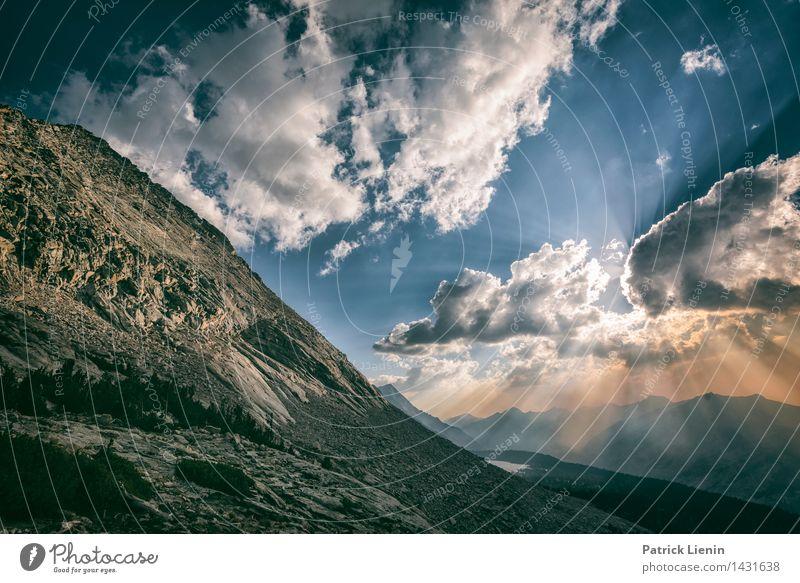 Kings Canyon Himmel Natur Ferien & Urlaub & Reisen Sommer Sonne Erholung Landschaft Wolken Ferne Berge u. Gebirge Umwelt Freiheit Felsen Zufriedenheit Wetter