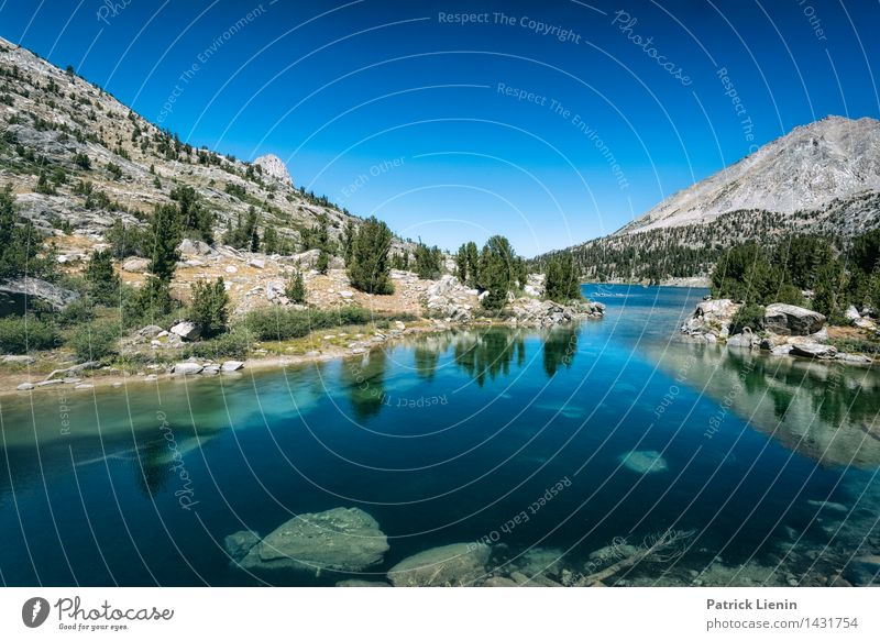 Rae Lakes Himmel Natur Ferien & Urlaub & Reisen Pflanze Sommer Baum Erholung Landschaft ruhig Wald Berge u. Gebirge Umwelt Küste See Stimmung Felsen