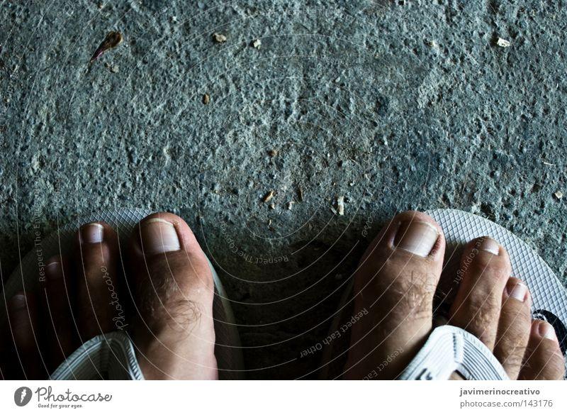 Fuß Kunst Finger Boden Zielscheibe Fingernagel schreiten Kunsthandwerk Cordoba Andalusien