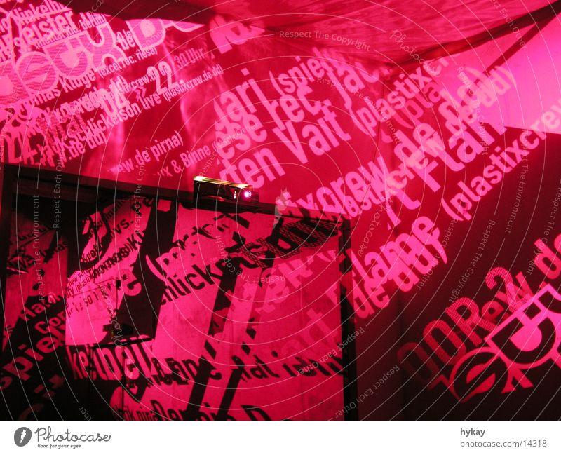 plastixbday Stimmung Raum Freizeit & Hobby Dekoration & Verzierung Typographie Dia magenta Projektion Raumeindruck Seidenfabrik