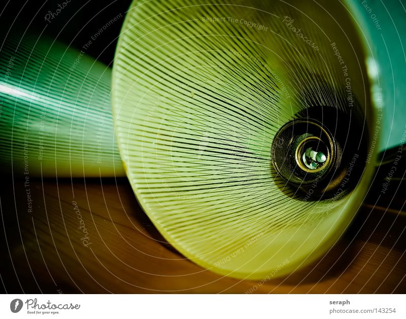 1950´s alt Lampe Stil Glas Design Dekoration & Verzierung Streifen antik gestreift elektronisch altmodisch gebraucht Fünfziger Jahre Lampenschirm Technik & Technologie Antiquität