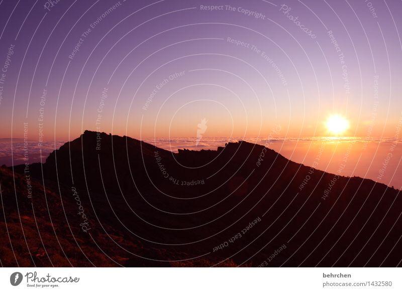 r.i.p. david Himmel Natur Ferien & Urlaub & Reisen schön Sommer Landschaft Wolken Ferne Berge u. Gebirge Frühling außergewöhnlich Freiheit Horizont orange