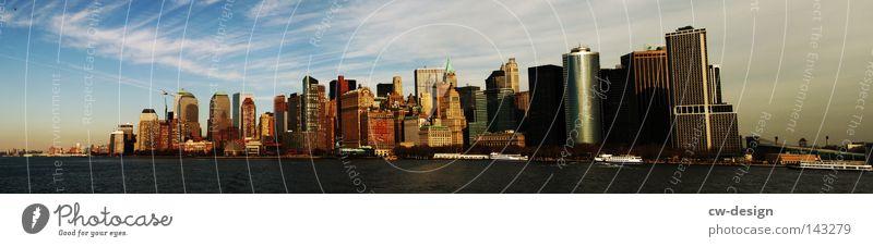 NYC Himmel Natur Wasser blau Stadt Wolken dunkel Gebäude hell Kunst Wasserfahrzeug Manhattan dreckig Hochhaus Insel