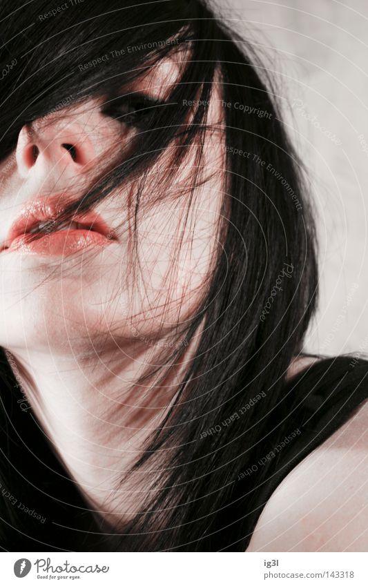 Schneewittchen :: part2 Frau Haarschnitt Traumwelt Sturmfrisur Lifestyle Stil schön Friseur gestellt Haarpflege trendfrisur märchenheldin Porträt Frauengesicht