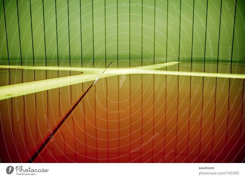 Traffic Gradient U-Bahn grün rot Bochum Farbe Farbverlauf Reflexion & Spiegelung Licht unterirdisch