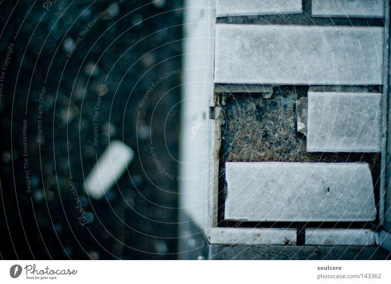 Decay Mauer Grunge Verfall blau grau Ruine dreckig Bauschutt Stein verfallen Architektur