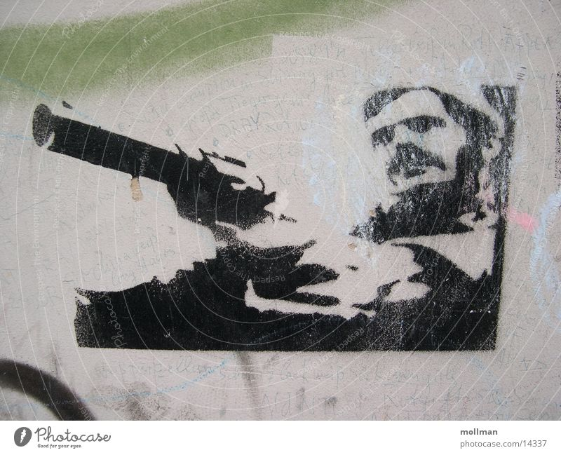 Grafitti Filmindustrie Pistole Fototechnik Schablone