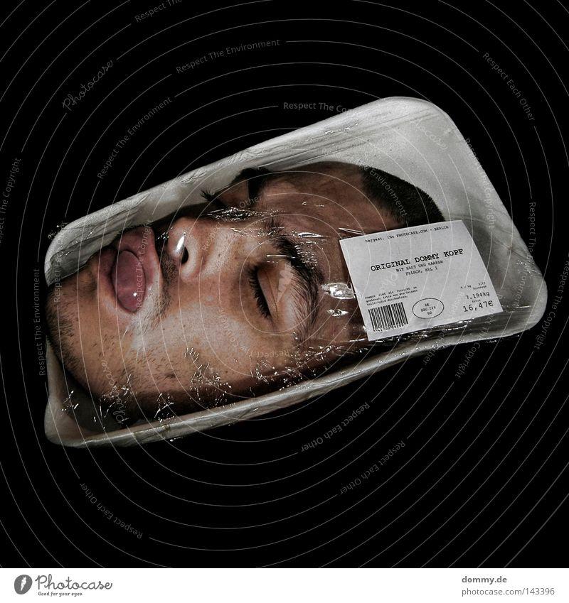 sonderangebot 2 Lebensmittel Fleisch Ernährung Schalen & Schüsseln Haare & Frisuren Haut Gesicht Mann Erwachsene Kopf Auge Nase Mund Lippen Bart kaputt Tod
