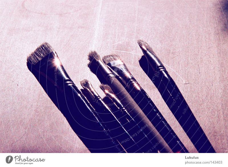 pinselpinselpinsel Licht Pause unbenutzt Gedankenarmut weiß Sauberkeit groß klein dünn lang kurz fein Strukturen & Formen Kunst Kunsthandwerk Farbe