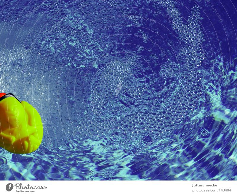 Rubber Duck blau Wasser Sommer Freude gelb Spielen Kindheit Schwimmen & Baden Schwimmbad Badewanne Spielzeug Im Wasser treiben Ente Badeente