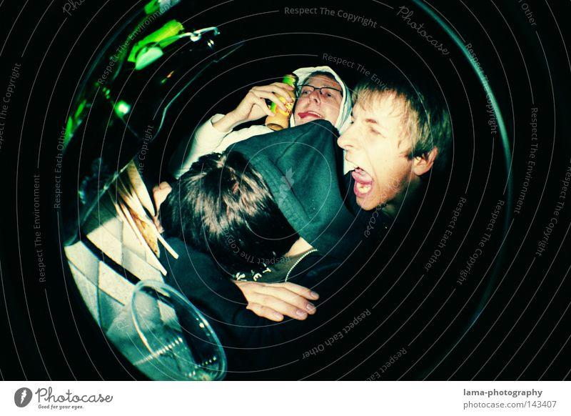 STERNHAGELVOLL Mann Jugendliche blau Freude Gesicht Party Garten Stimmung Feste & Feiern lustig Tisch geschlossen Kreis Fischauge rund Bier