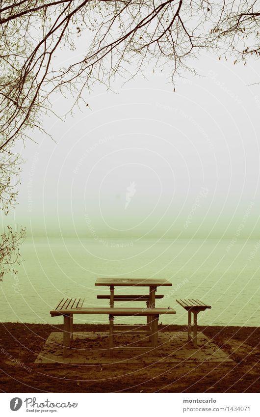 mit seeblick Ferien & Urlaub & Reisen Tourismus Umwelt Natur Landschaft Urelemente Erde Luft Wasser Himmel Herbst Klima Wetter schlechtes Wetter Nebel Pflanze