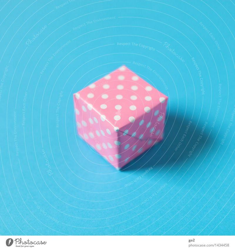 Für Sie Valentinstag Muttertag Weihnachten & Advent Geburtstag Papier Verpackung Paket Geschenk Geschenkpapier Punkt gepunktet ästhetisch blau rosa Vorfreude