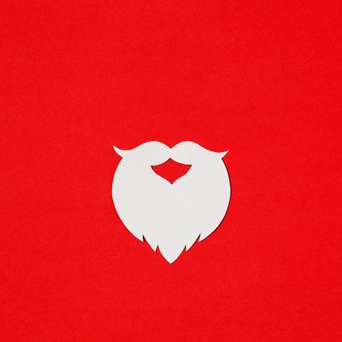Nikolaus Basteln Weihnachten & Advent Bart Vollbart Papier alt ästhetisch einfach rot weiß Vorfreude Farbfoto Innenaufnahme Studioaufnahme Nahaufnahme