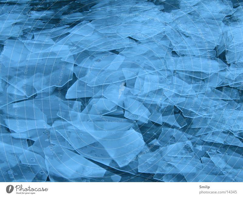 Eisscherben Wasser See Eis Scherbe