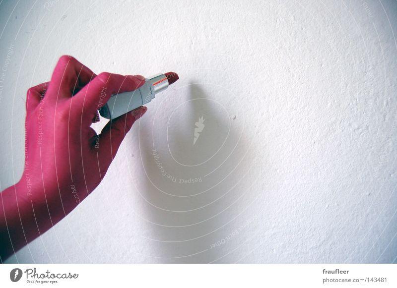 an die Wand schreiben Frau blau Hand grün weiß schön rot Farbe Wand Freiheit Mauer hell Kunst rosa Arme Schilder & Markierungen