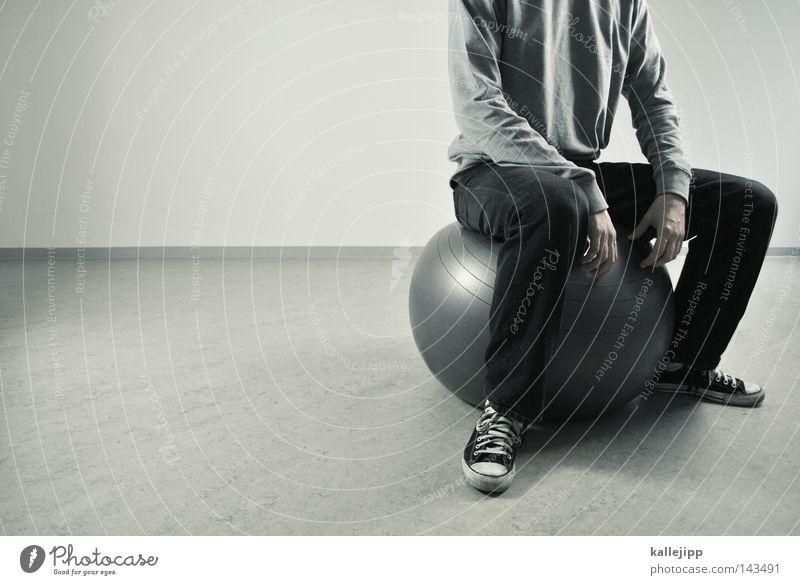 hip Mensch Mann weiß Freude schwarz Spielen grau Bewegung springen Luft Gesundheit Raum Freizeit & Hobby Aktion rund Ball