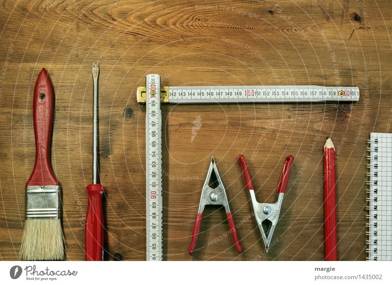 Handwerkzeug Freizeit & Hobby Basteln Modellbau Arbeit & Erwerbstätigkeit Beruf Handwerker Anstreicher Arbeitsplatz Baustelle Dienstleistungsgewerbe Business