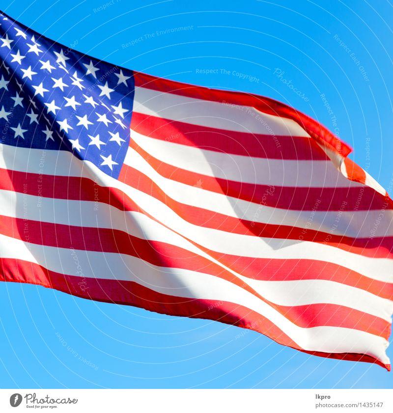 USA Farbe und Welle Freiheit Kultur Himmel Wolken Wind Denkmal Streifen Fahne fliegen blau rot weiß Selbstständigkeit amerika Amerikaner Hintergrund