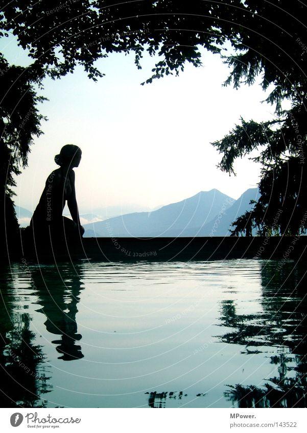 lago maggiore due Frau Wasser schön Himmel Ferien & Urlaub & Reisen ruhig schwarz Wald dunkel Erholung Berge u. Gebirge träumen See Landschaft Erwachsene groß
