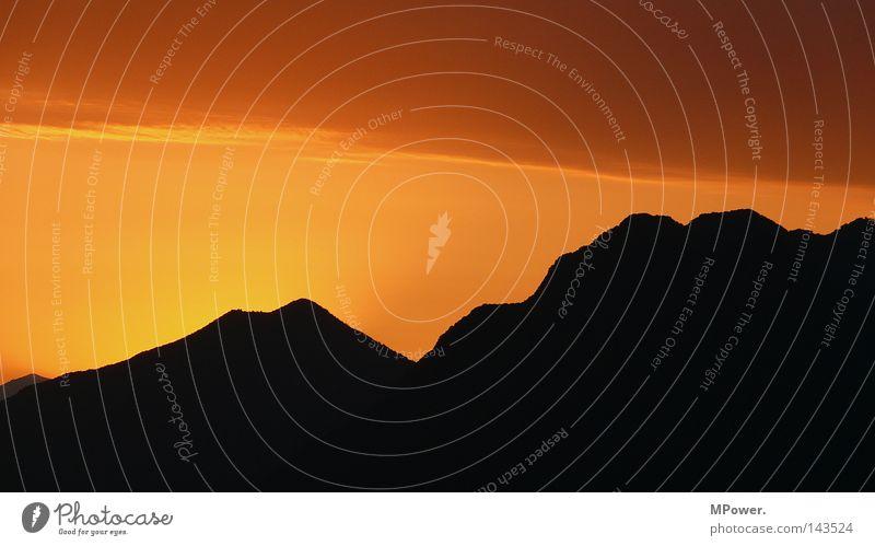 lago maggiore tre schön Himmel Sommer Ferien & Urlaub & Reisen ruhig schwarz Farbe Erholung Berge u. Gebirge träumen Landschaft orange Aussicht Italien