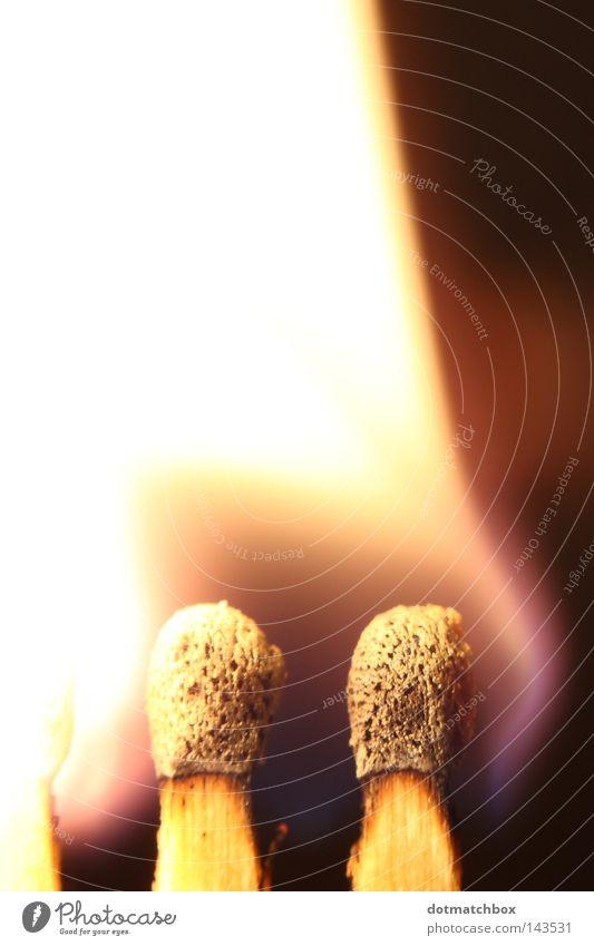 Zündung Brand Feuer zünden entzünden entzündet Streichholz Licht Makroaufnahme Nahaufnahme match matchbox light