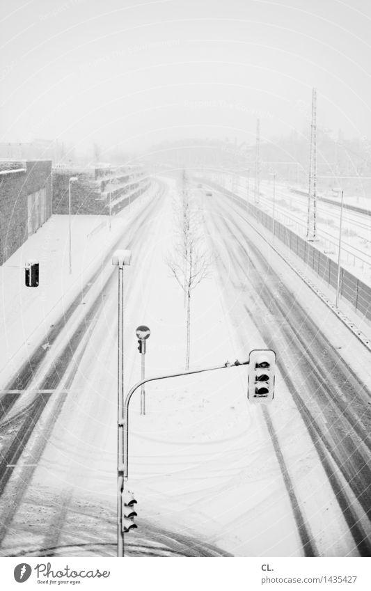 winter Umwelt Natur Winter Klima Wetter Unwetter Eis Frost Schnee Schneefall Düsseldorf Stadt Verkehr Verkehrsmittel Verkehrswege