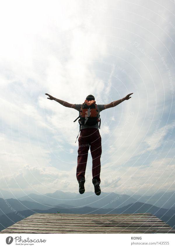 feder Himmel Natur blau Freude Wolken oben Bewegung springen Glück Zufriedenheit fliegen hoch Energie Geschwindigkeit Luftverkehr Schönes Wetter