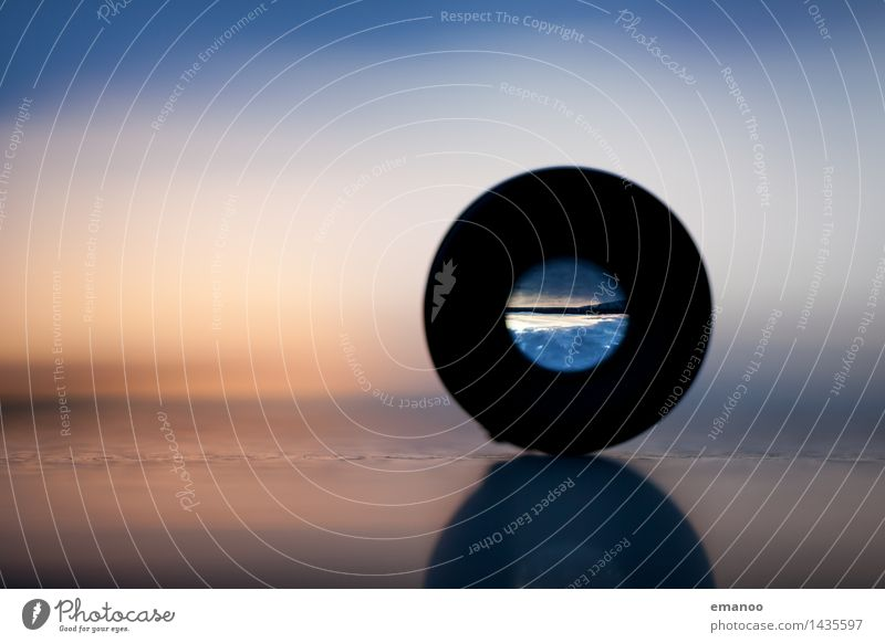 Durch die Linse Medienbranche Fotokamera Technik & Technologie Natur Landschaft Horizont Lupe Fernglas Teleskop Stein Glas Metall rund Zufriedenheit Inspiration