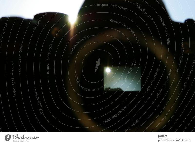 Spiegelreflex Himmel Baum Sonne Lampe Beleuchtung Technik & Technologie Spiegel Rad Strahlung Linse Durchblick Sucher Himmelskörper & Weltall Elektrisches Gerät fokussieren Spiegelreflexkamera