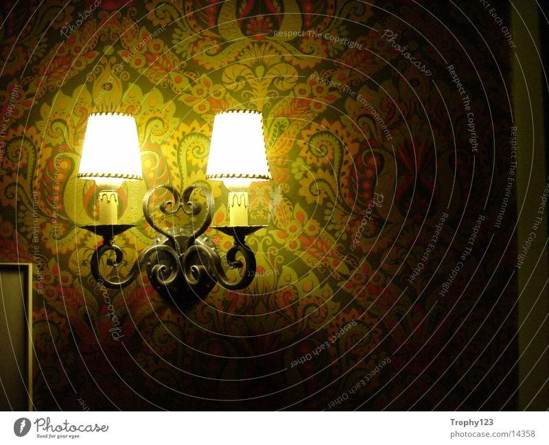 Lampe alt grün Tapete Fototechnik