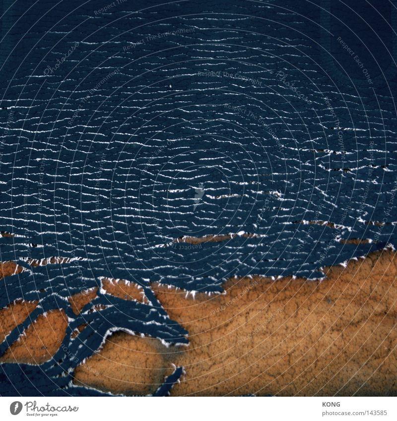 makrosatellit Wasser Meer Strand Küste Ordnung Wellen beobachten kaputt Seeufer verfallen Riss gebrochen Brandung Demontage Zerreißen künstlich