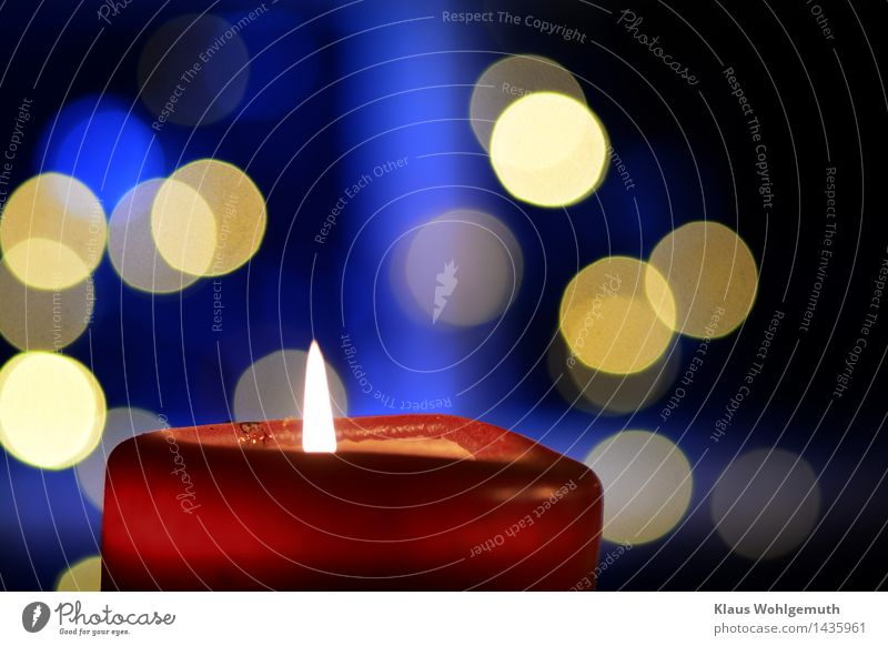 Etwas Wärme Weihnachten & Advent Stern Fenster Kerze leuchten blau gelb rot Romantik besinnlich Vorweihnacht Farbfoto Innenaufnahme Studioaufnahme Nahaufnahme