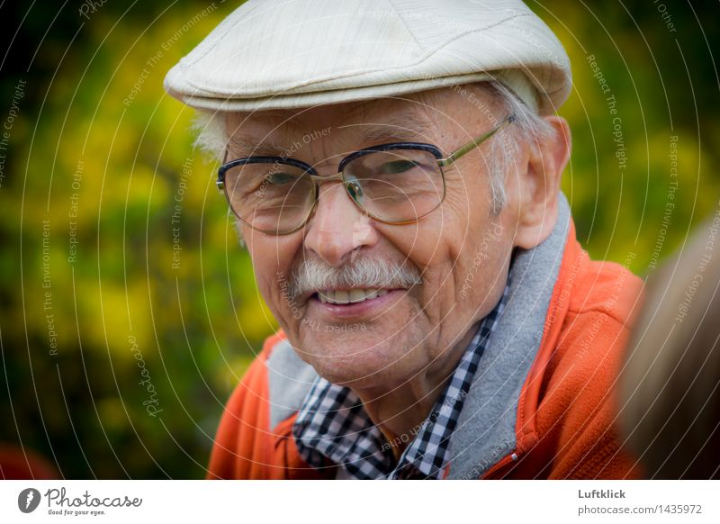 Smiling Old Man With a Grey Beard Mensch Natur Ferien & Urlaub & Reisen Mann alt Erholung ruhig Freude Erwachsene Leben Senior Stil Gesundheit lachen Glück