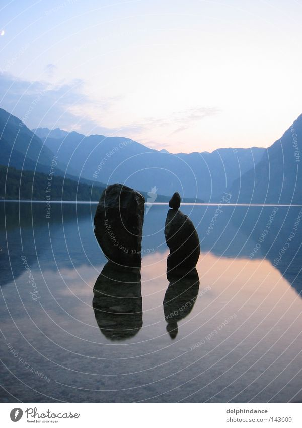 Abend am Bohiner See Wasser Himmel ruhig Meditation Slowenien Slowakische Republik