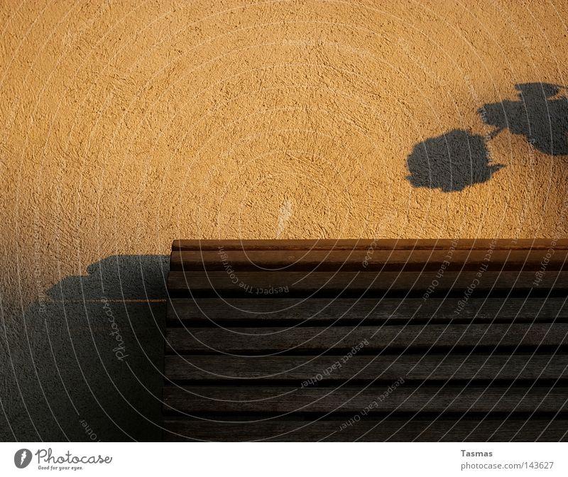 Bank Schatten Gewächs Pflanze Sommer Sonne Stimmung Dekoration & Verzierung Streifen Bank Abendsonne Schatten Tapete Raufasertapete