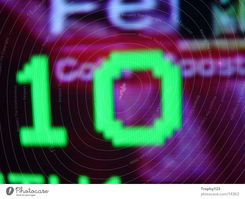 Ten10 grün Fernsehen Bildpunkt