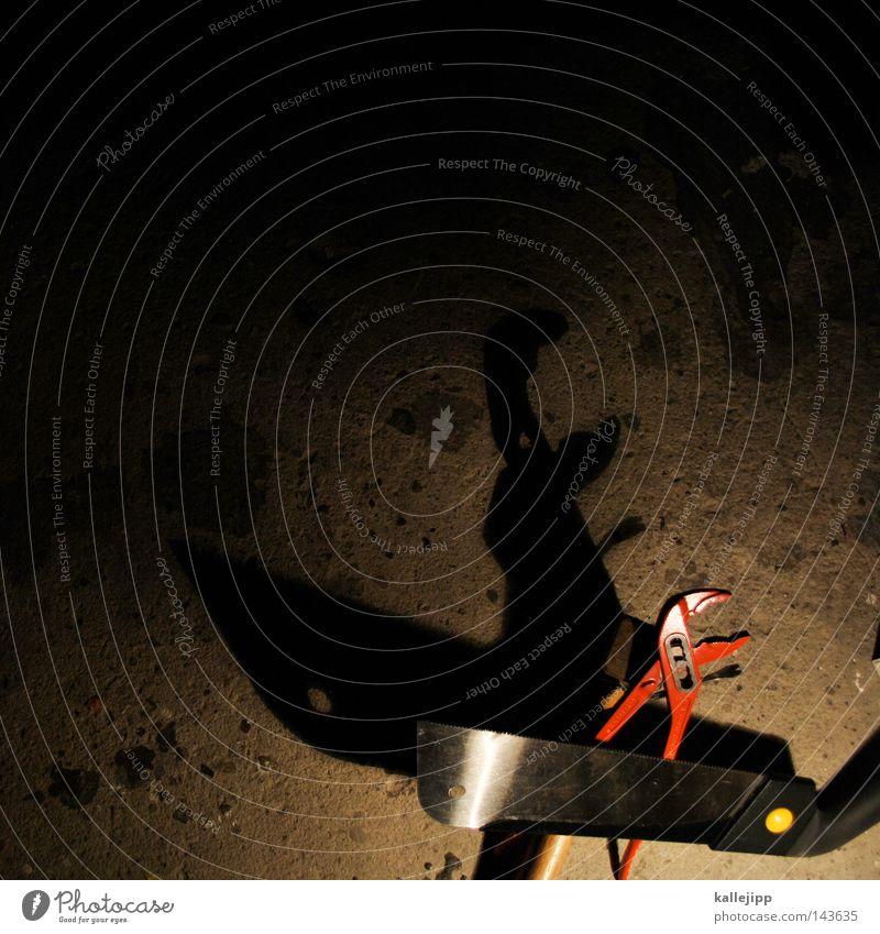 tyrannosaurus flex Schatten Dinosaurier Tier Zange Säge Schraubendreher Werkzeug Kreidezeit Echsen Fälschung Beton Schnauze Maul Rohrsänger Arbeitsgeräte