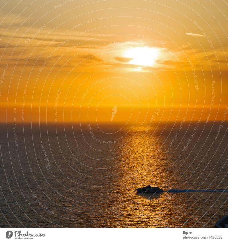 und der Himmel Mittelmeer Rotes Meer Natur Ferien & Urlaub & Reisen Farbe Sommer weiß Sonne rot Landschaft Wolken ruhig schwarz gelb Küste Wasserfahrzeug