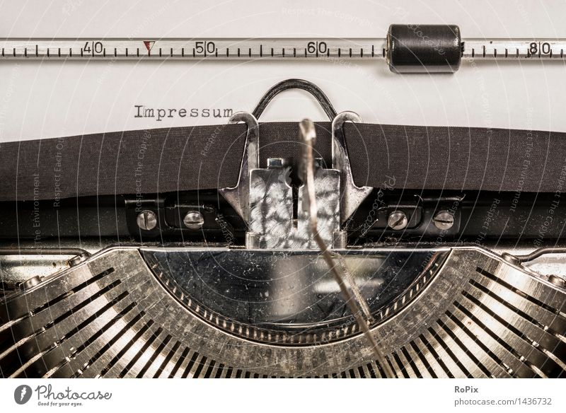 INPRESSUM alt Business Metall Büro Schriftzeichen Technik & Technologie lernen Buch Industrie Zeichen lesen historisch Ziffern & Zahlen Bildung